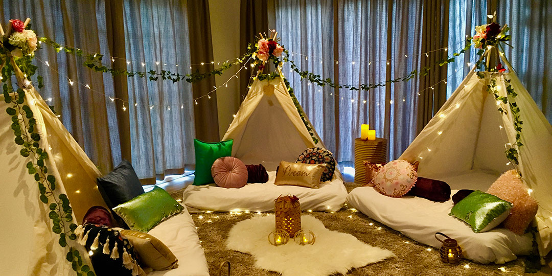 Cape Town teepee slumber party – Boho theme