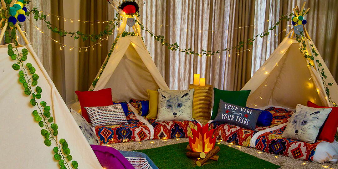 Cape Town teepee slumber party – Into The Wild Theme