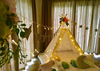 Teepee Slumber party for kids in Cape Town – dream theme