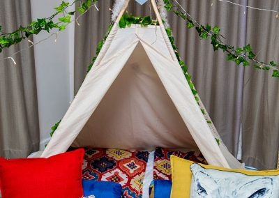 Teepee Slumber party for kids in Cape Town – into the wild theme image