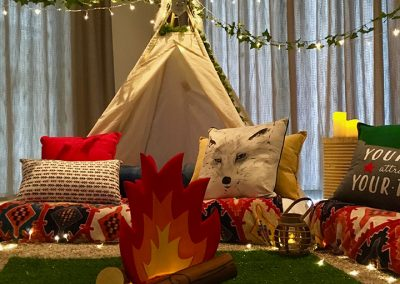 Teepee Slumber party for kids in Cape Town – into the wild theme