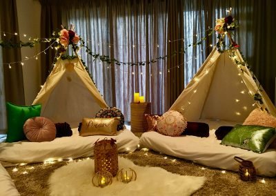 Cape Town Teepee Slumber party for kids – boho bliss theme